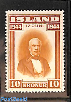 10kr, Stamp out of set