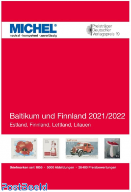 Michel catalogue Europe Volume 11 Baltic States and Finland 2021/2022