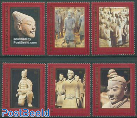 Terracotta army 6v from booklet