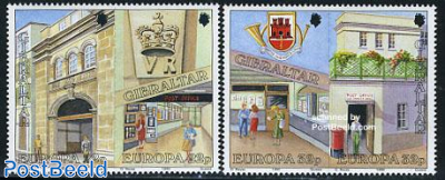 Europa, post offices 2x2v [:]
