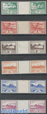 German Occupation 6v, Gutter pairs