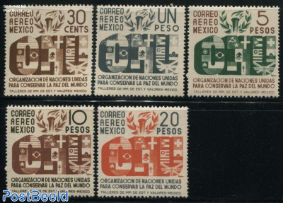 United Nations 5v, Only airmails