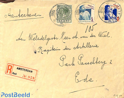 Registered letter to Ede