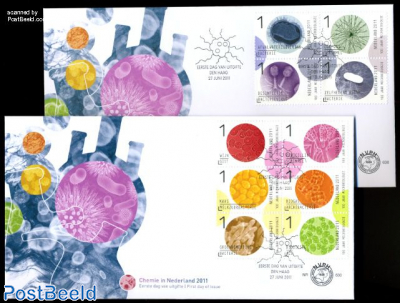 association for micro biology 10v FDC (2 covers)
