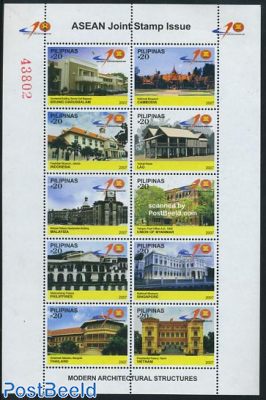 ASEAN Joint issue 10v m/s