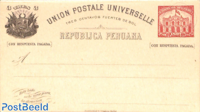 Reply Paid postcard 3/3c