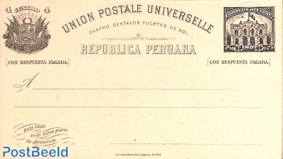 Reply Paid postcard 4/4c