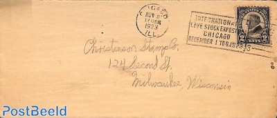 Letter from Chicago to Milwaukee, Cancellation: Livestock Exposition