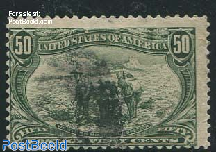 50c Olive-green, used