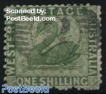 1Sh, Green, Stamp out of set