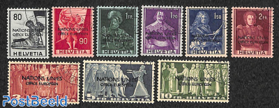 NATIONS UNIES OFFICE EUROPEEN 9v, cancelled to order
